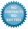 No Contract No Exit fees